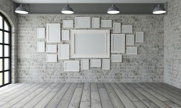 Marcos de cuadros inempty room