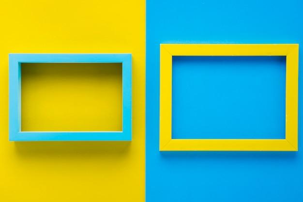 Marcos decorativos minimalistas planos