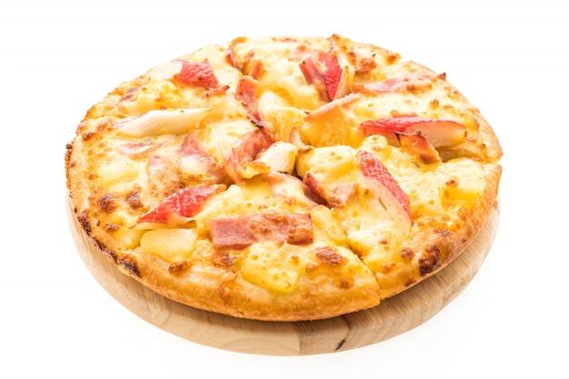 Mariscos de la pizza hawaiana