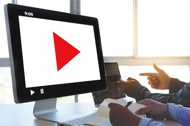 Marketing de vídeo audio video, market interactive channel, business