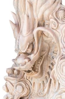 Mármol dragón chino tallado