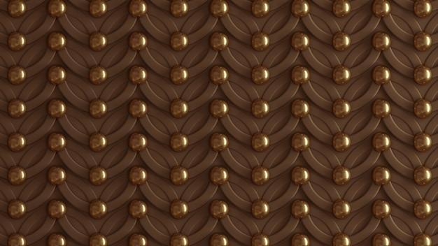 Marrón arquitectónico, patrón interior, pared de textura de oro beige. representación 3d