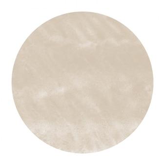 Marrón dibujado a mano acuarela marco circular textura con manchas