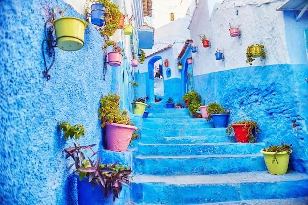 Marruecos es la ciudad azul de chefchaouen.