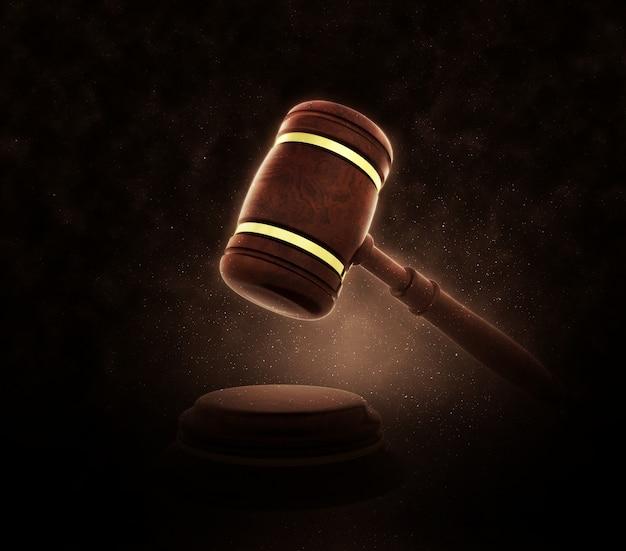 Un martillo de juzgado
