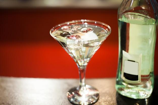 Martini en un vaso