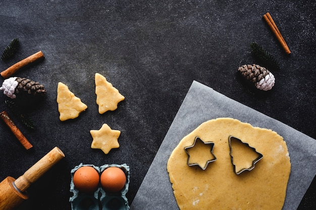 Masa de galleta de jengibre para navidad