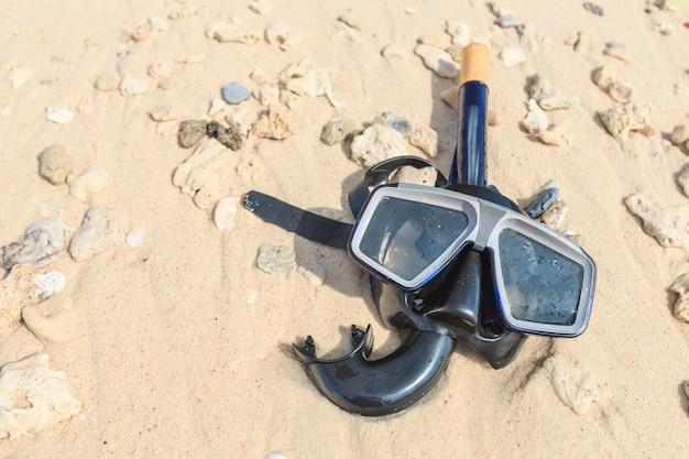 Máscara de buceo y snorkel, snorkel.