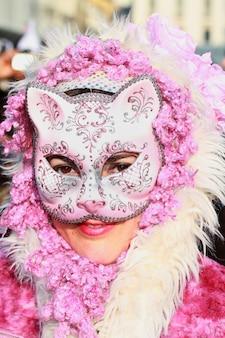 Máscara de carnaval en venecia