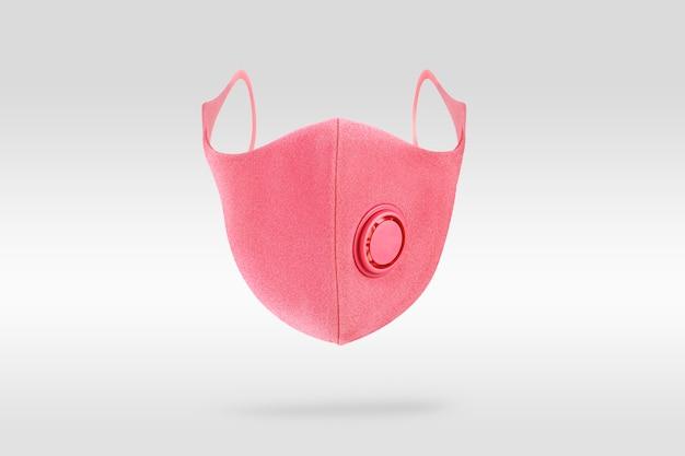 Máscara de espuma rosa con elemento de diseño de válvula.