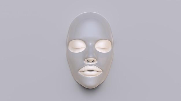 Máscara de hoja de barro render 3d