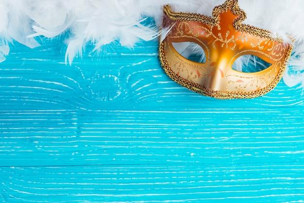 b24d29a69 Máscara y plumas blancas