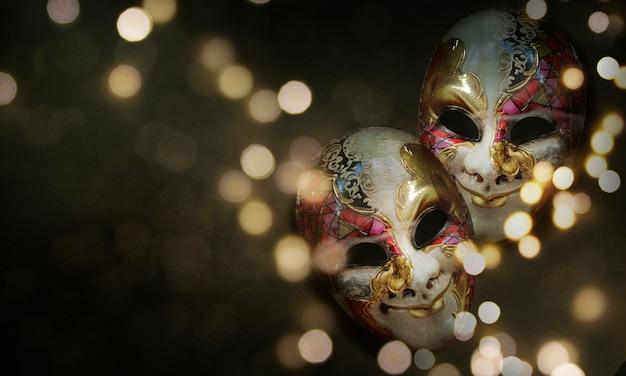 Máscara veneciana tradicional de carnaval