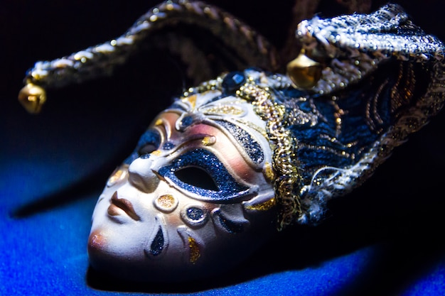 Máscaras típicas del tradicional carnaval de venecia.
