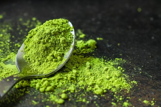 Matcha - té verde en polvo, suplemento alimenticio