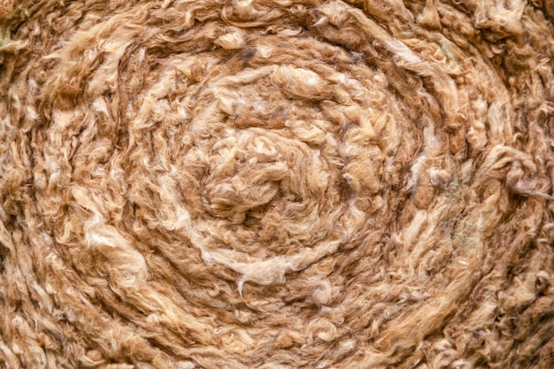 Material de aislamiento térmico, lana de roca. capa de aislamiento térmico del techo. cierre de lana mineral, fibra, algodón mineral, fibra mineral, aislamiento térmico de fibra de lana de vidrio.