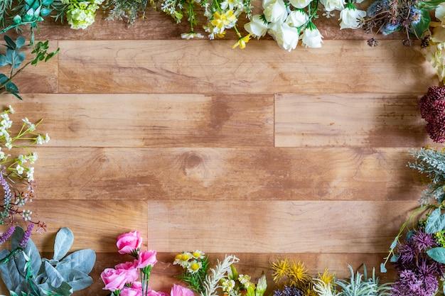 Material de fondo de grano verde y madera