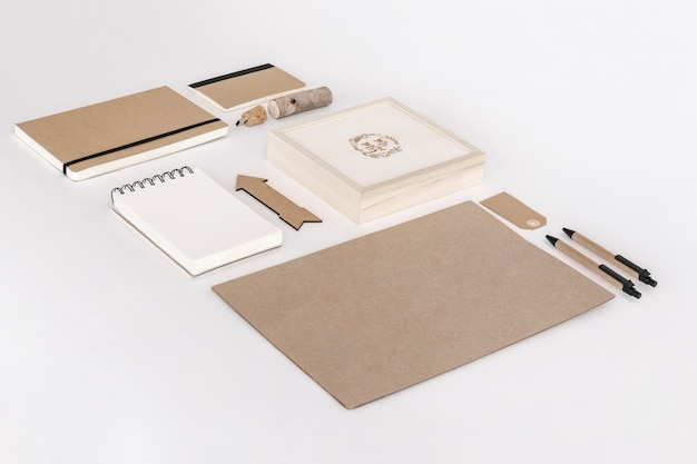 Material de oficina de papel kraft