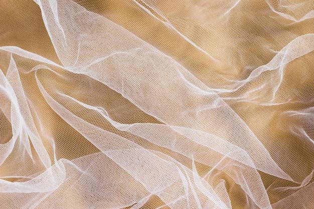 Material transparente de tela de seda para la decoración del hogar.