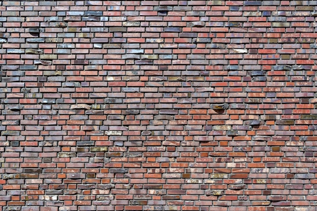 La mayor parte de la pared de ladrillo