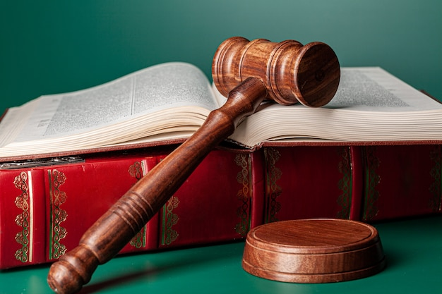 Mazo de un juez, primer plano
