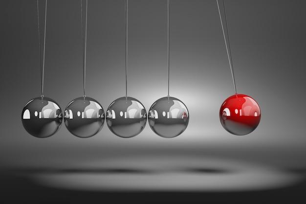 Mecanismo de bolas metálicas
