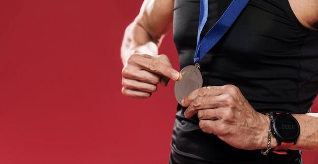 Medalla de rastro de primer plano