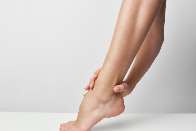 Medicina de salud de lesiones en el pie problemas de salud de cerca