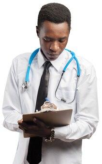 Médico hombre aislado fondo blanco
