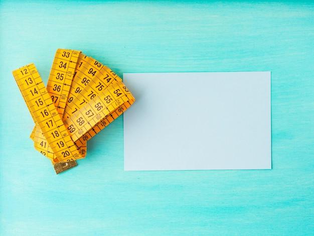 Medidor de medición y tarjeta vacía
