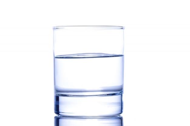 Medio vaso de agua
