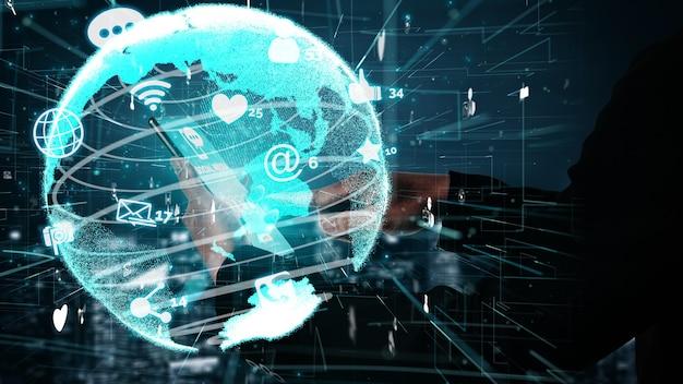 Los medios sociales y la tecnología de red de personas conceptual.
