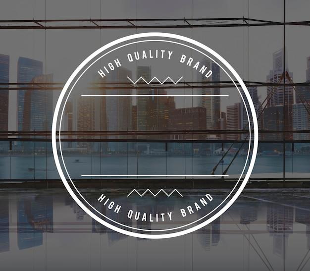 Mejor concepto de sello de insignia de marca de alta calidad