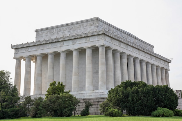 El memorial de abraham lincoln, washington dc - usa.