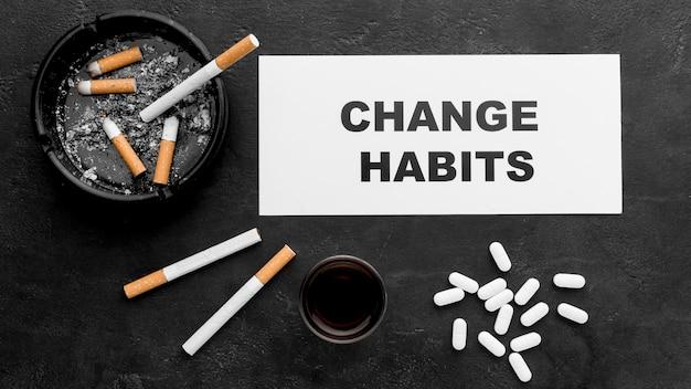 Mensaje de cambio de hábitos