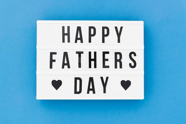 Mensaje del día del padre en caja de luz