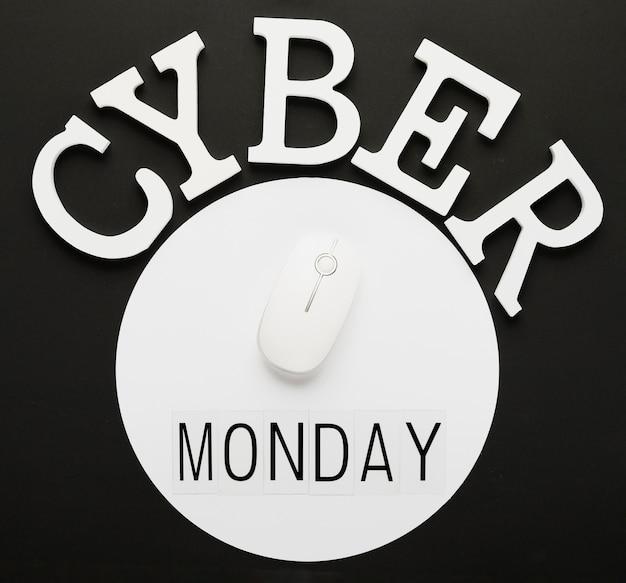 Mensaje del lunes cibernético con el mouse