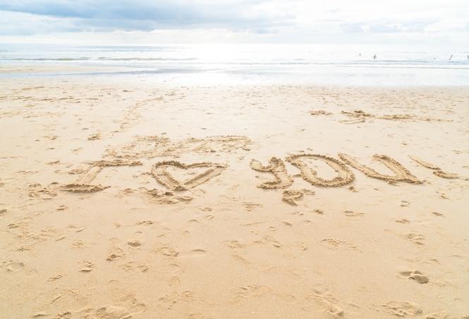 Te Amo En La Arena De La Playa: Descargar Fotos Gratis