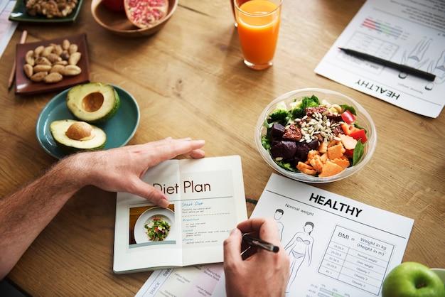 Menú saludable receta dieta alimentaria