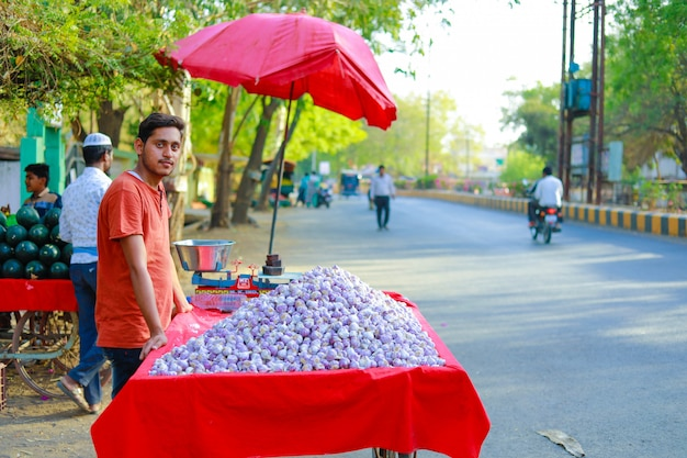 Mercado callejero indio