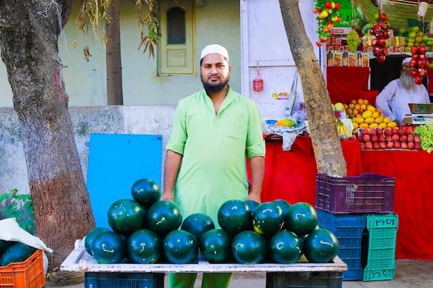 Mercado indio de vegetales