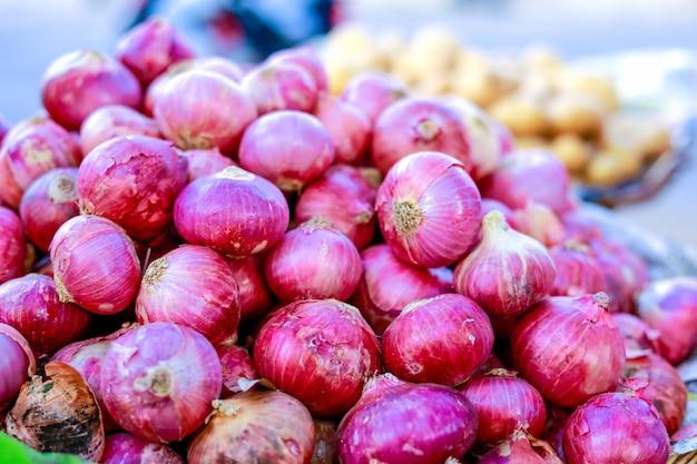 Mercado de verduras indias, comida vegetariana.