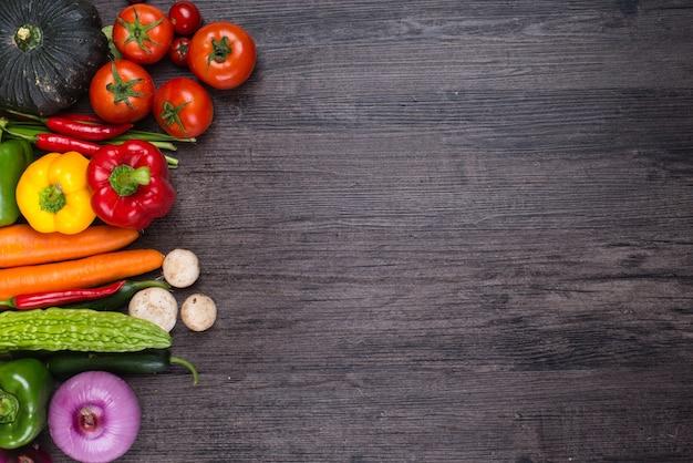 Mesa con verduras