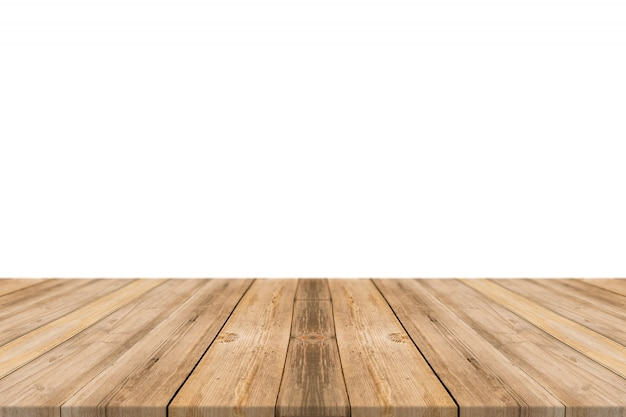 Mesa hecha con tablones
