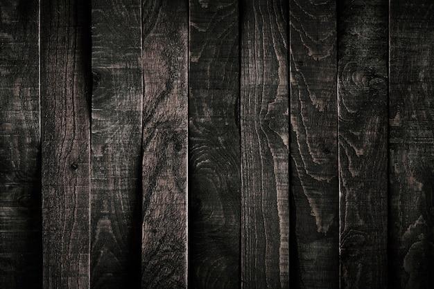 Mesa de madera negra.