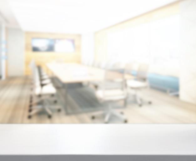 Mesa y oficina de desenfoque de fondo