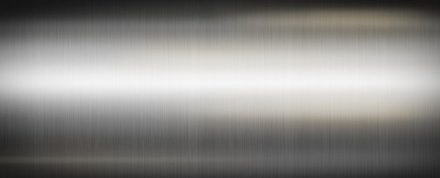 Metal cepillado plateado