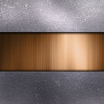 Metal rayado con metal dorado