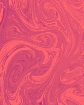 Mezcla de acrílicos pinturas rojas en mármol líquido textura.