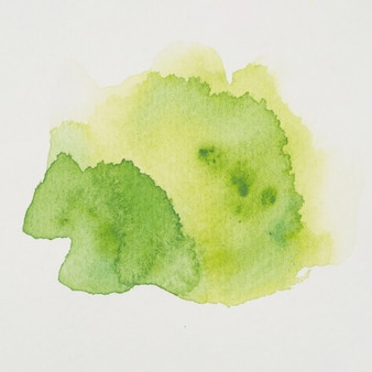 Mezcla de acuarela amarilla y verde.